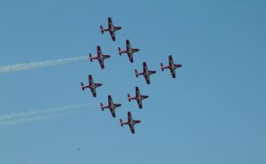 The Snowbirds in formation